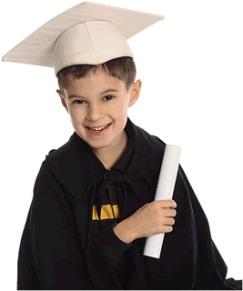 Photo of Child Holding Diploma